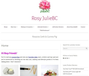 Rosy JulieBC Rosacea Product Review Database