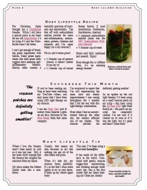 Rosy JulieBC Magazine - Free Rosacea Information