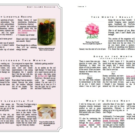 Rosy JulieBC Magazine - Free Rosacea Information Newsletter