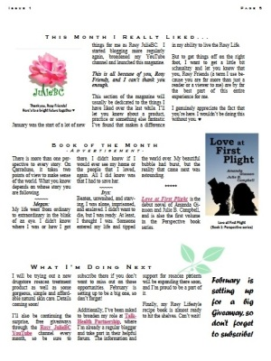 Rosy JulieBC Magazine - Free Rosacea Newsletter