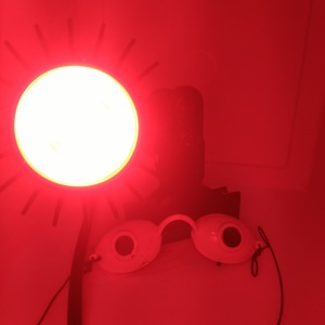 LED Red light therapy for rosacea | Rosy JulieBC